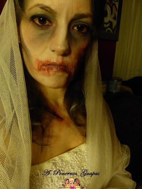 Maquillaje halloween novia zombie Oriflame 2