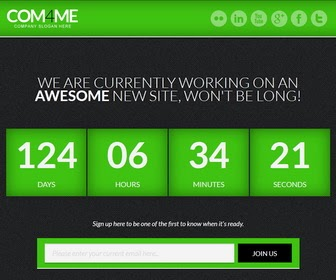 Free Download COM4ME Under Construction Blogger Template