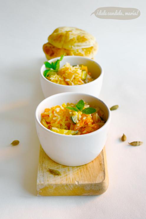 receta de arroz de último de mes o arroz con verduras estilo hindú
