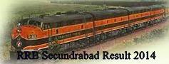 RRB Secundrabad Result 2014