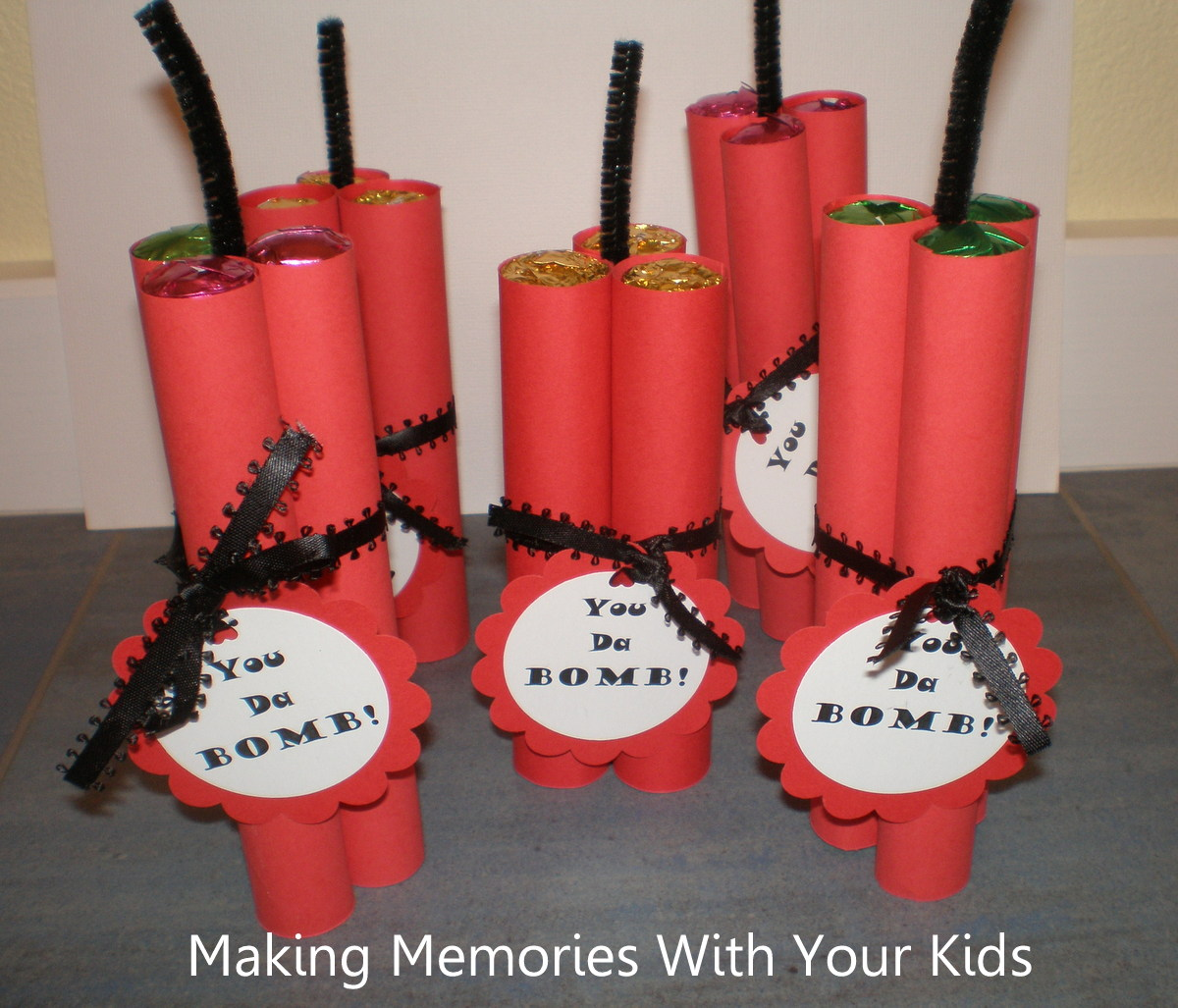 You Da Bomb Candy Valentine - Making Memories With Your Kids