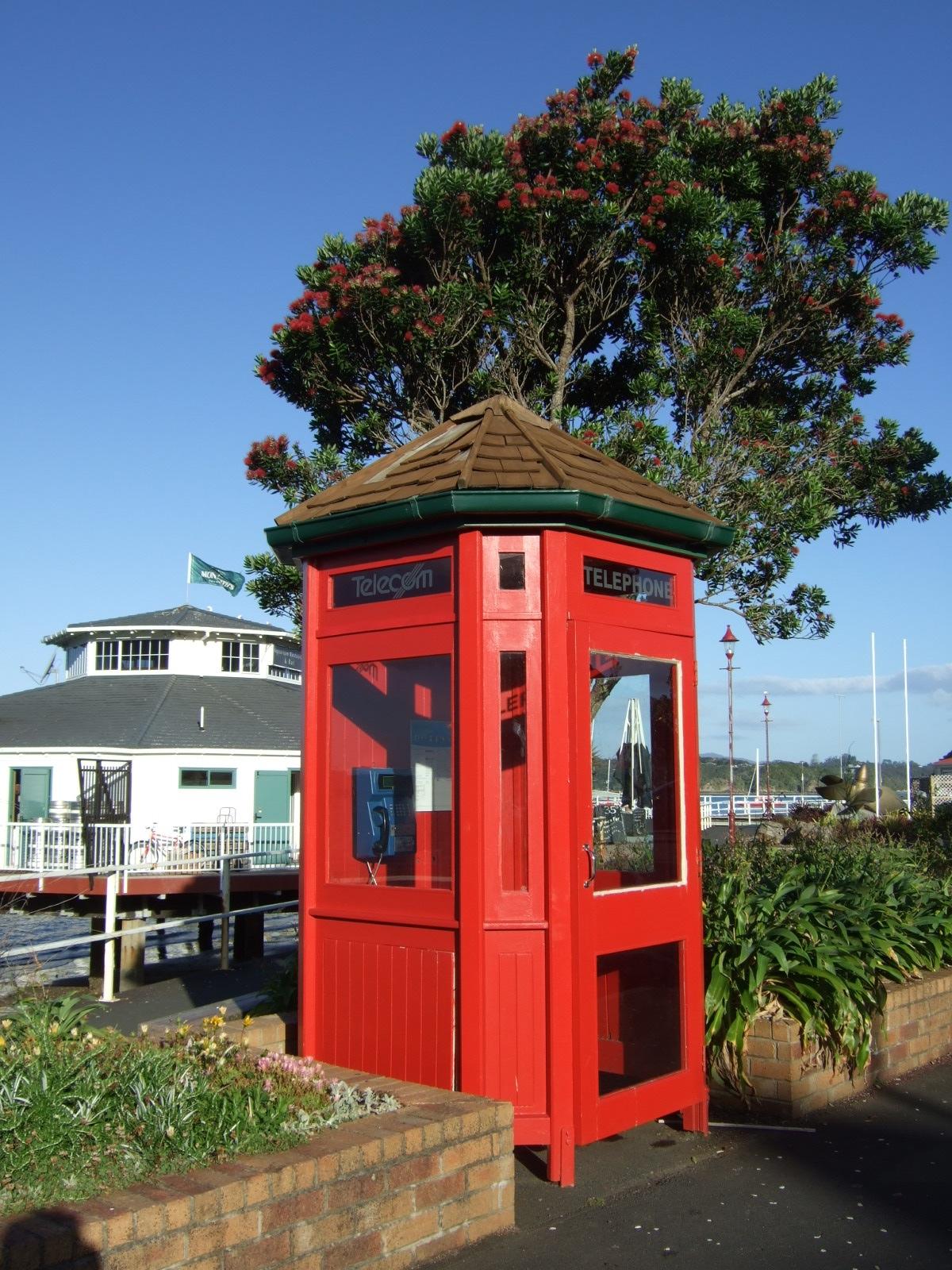 公衆電話,パイヒア,ニュージーランド〈著作権フリー無料画像〉Free Stock Photos