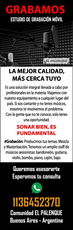 ESTUDIO DE GRABACIÓN MÓVIL