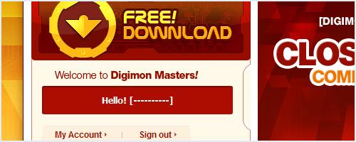 Digimon Masters, registro e Download! 02