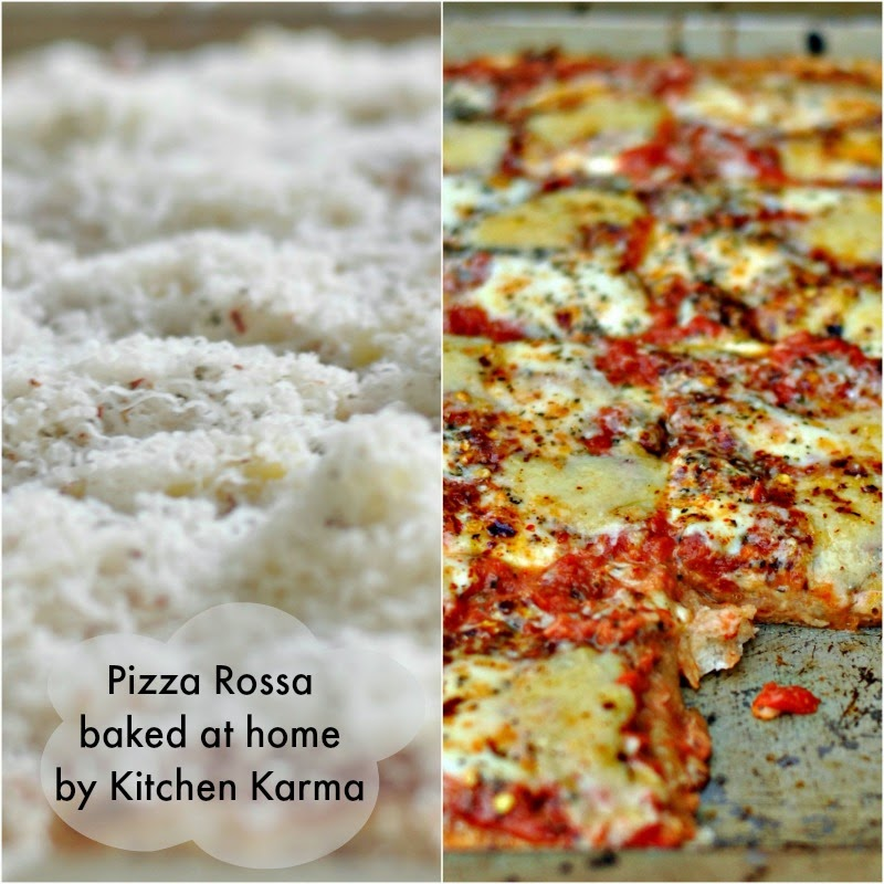 my first pizza at home thanks to pizza rossa!