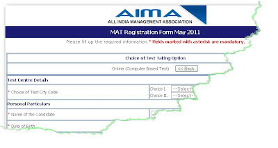 MAT May 2011 Online form