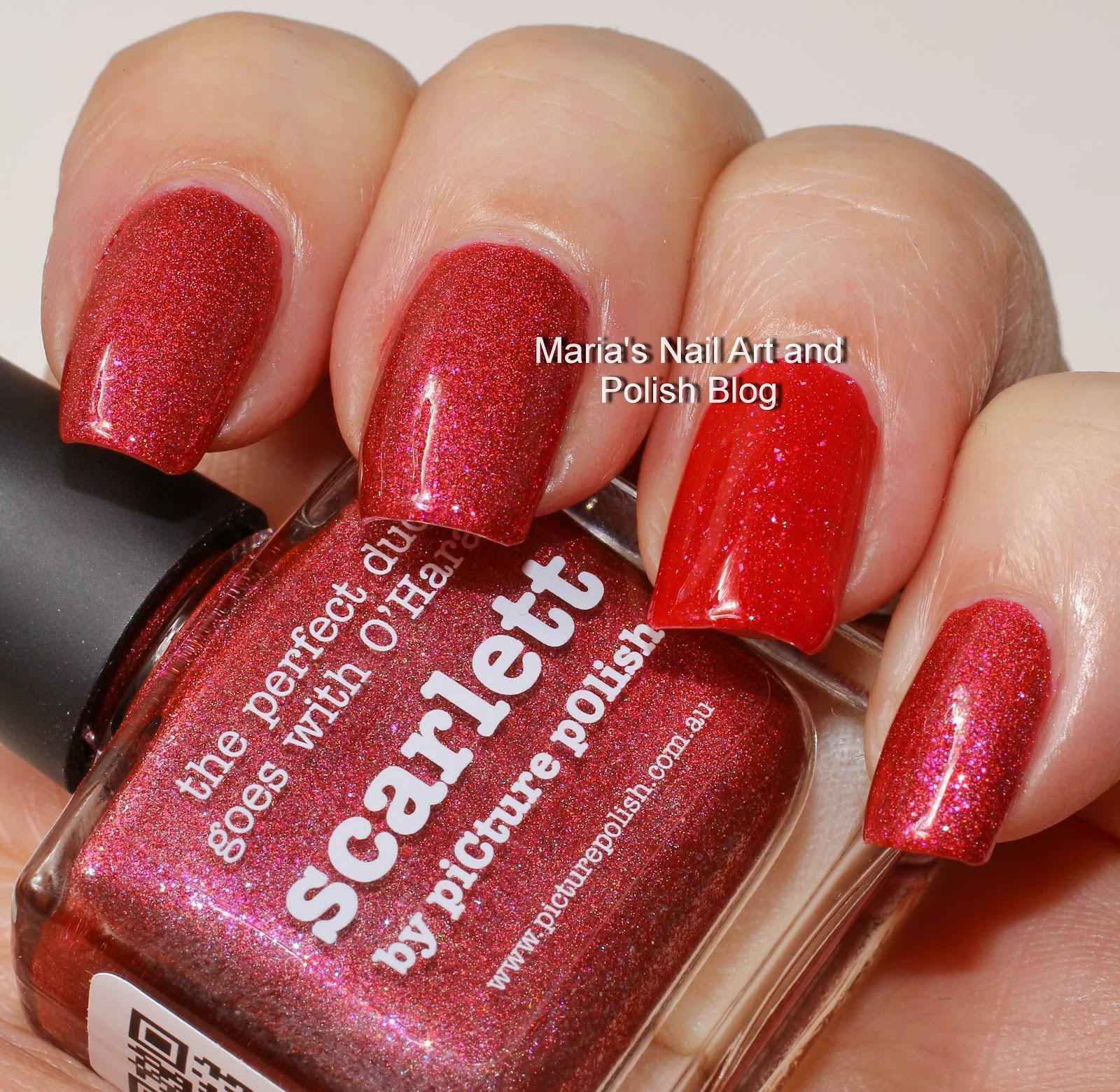 Marias Nail Art And Polish Blog: Picture Polish Scarlett