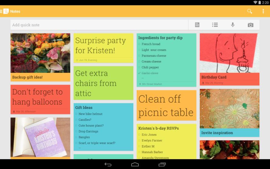 Recuerda tus tareas con Google Keep