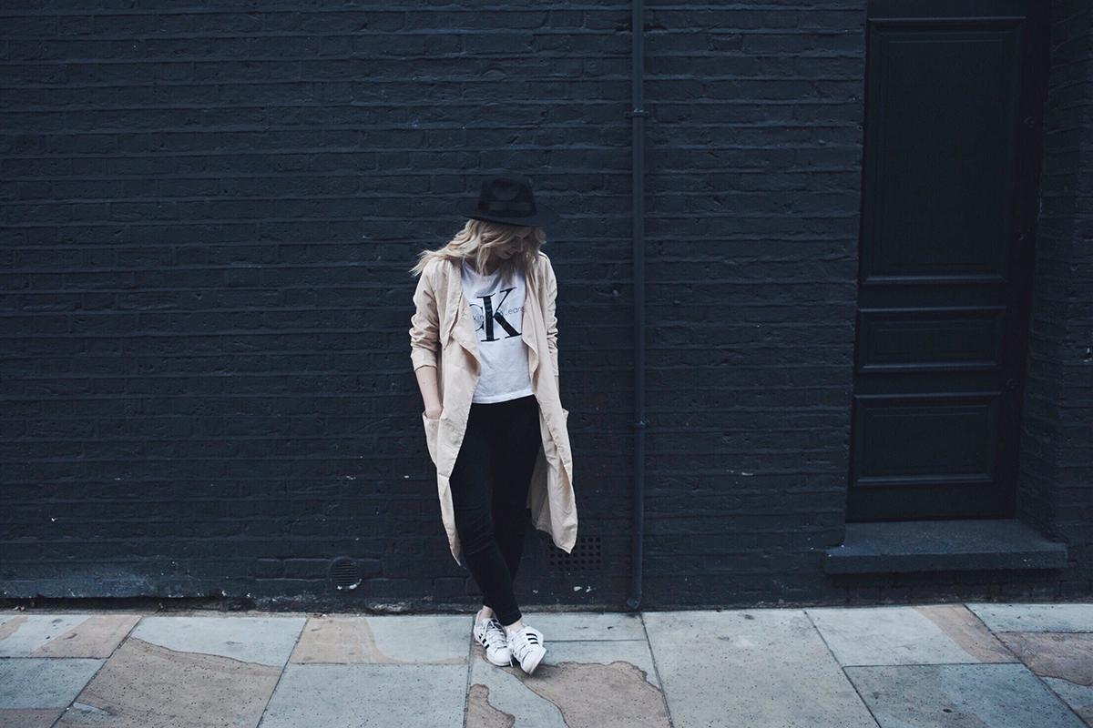 Calvin Klein Jeans t-shirt and Adidas Superstar
