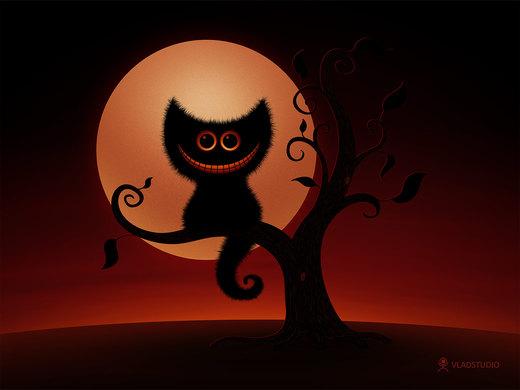 Halloween Kitten por vladstudio