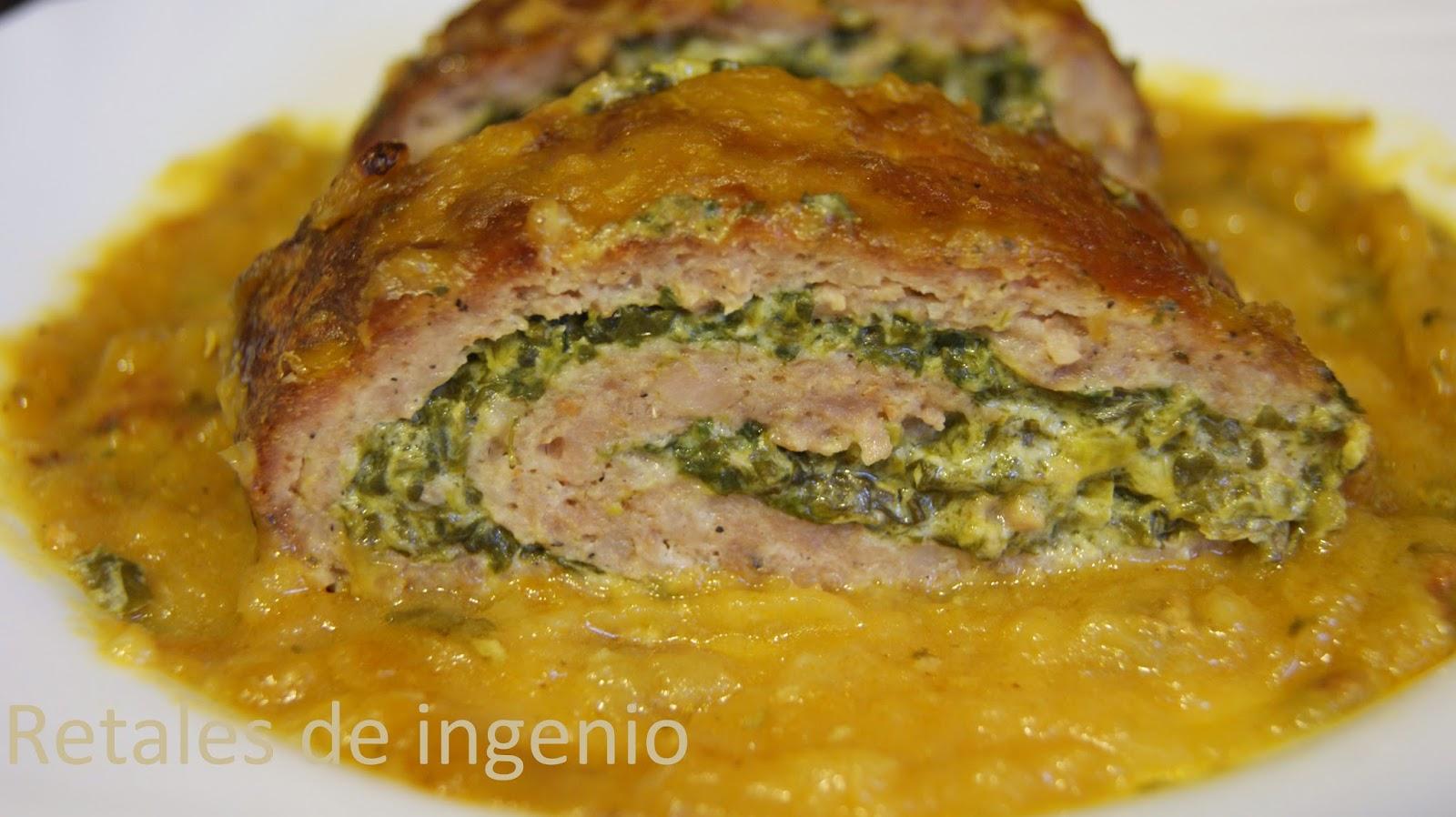 Retales de ingenio recetas y diet tica rollo de carne for Maneras de cocinar espinacas