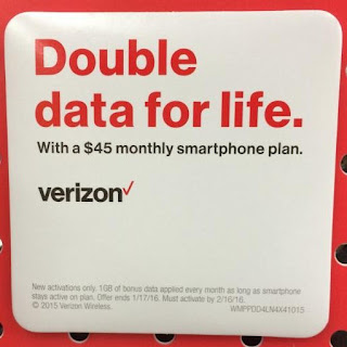 Verizon / Walmart Double Data For Life Promo