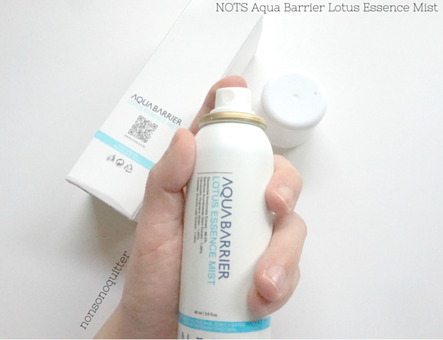 NoTS Aqua Barrier Lotus Essence Mist Review, Q-depot Review, How to choose a face mist, Face mists in winter?