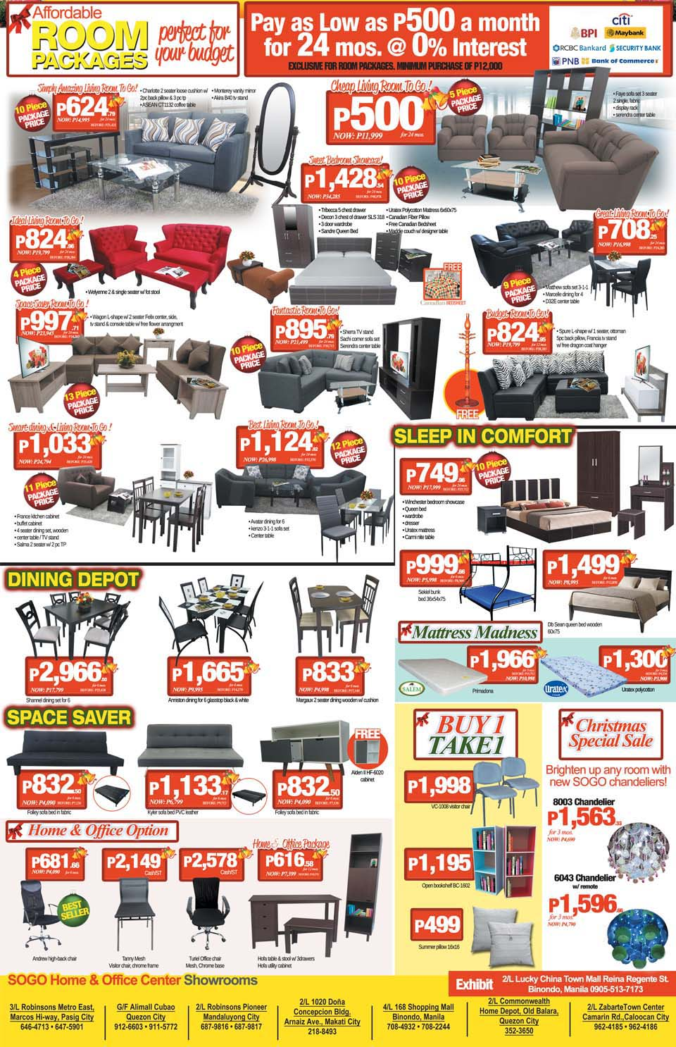 SOGO Home   Office Center Perfect Holiday Sale. SOGO Home   Office Center Perfect Holiday Sale   EDnything
