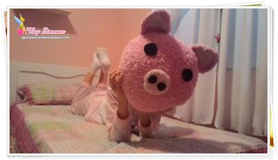 Almofada porquinho crochê