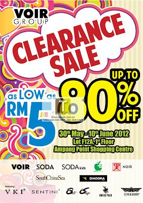 VOIR Group Clearance Sale from RM5