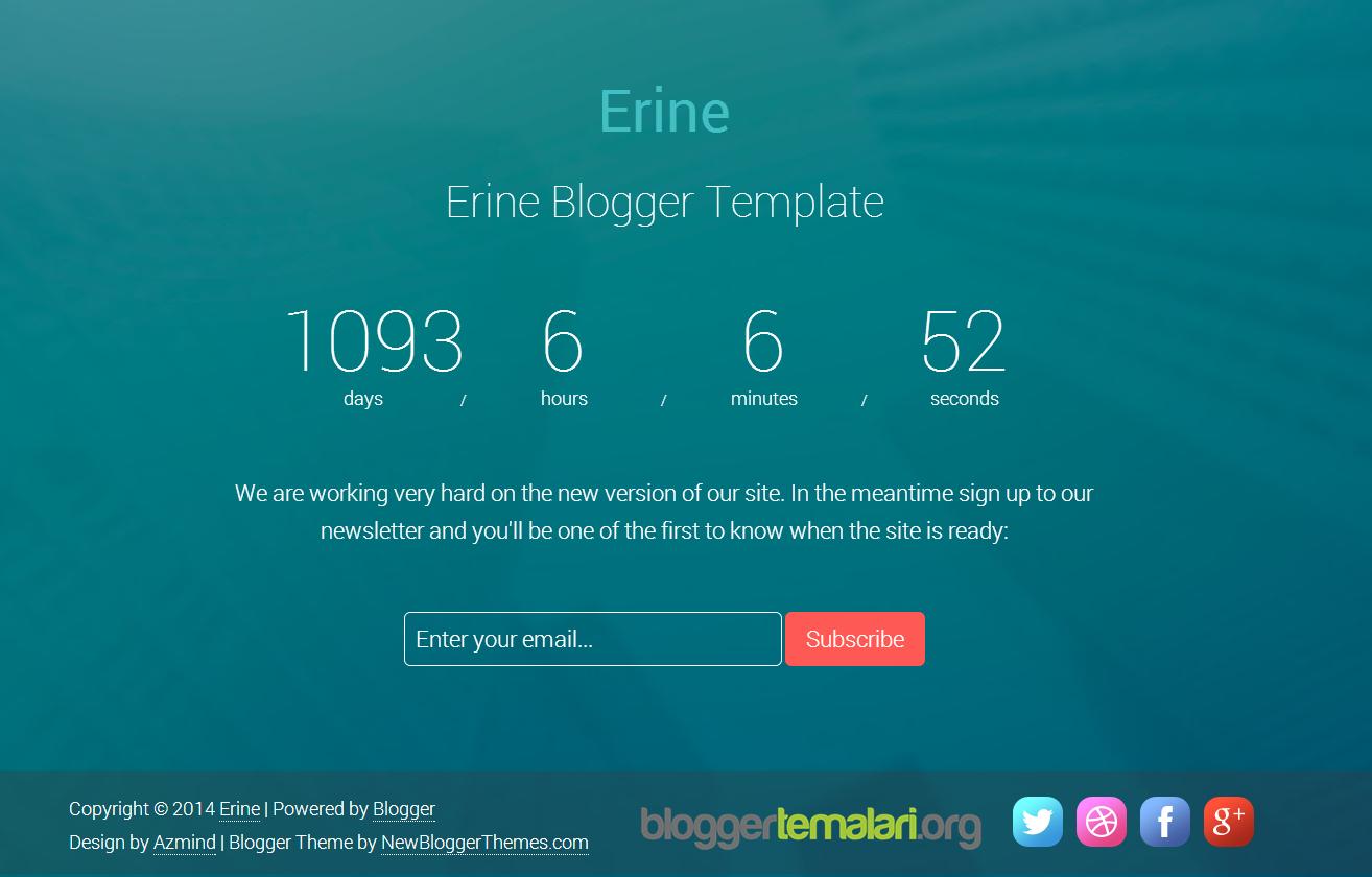 Blogger Yapım Aşamasında Teması