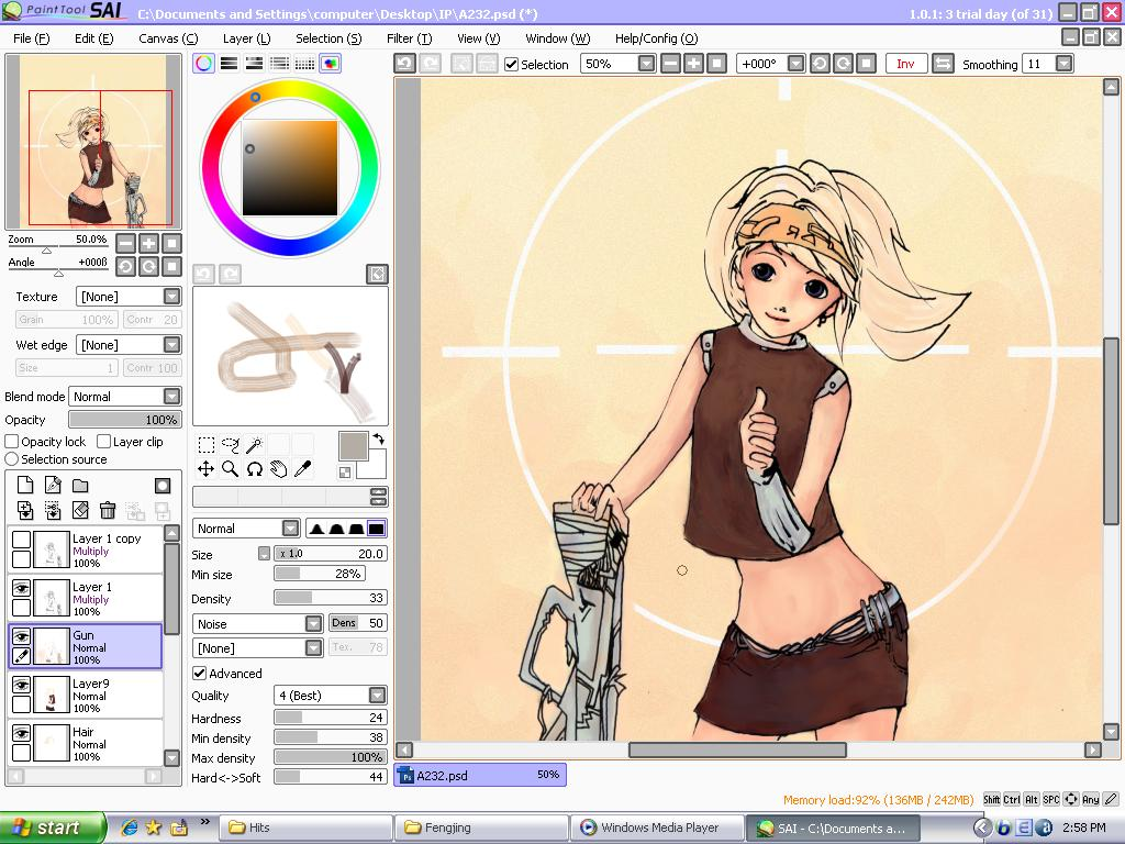 Paint Tools Sai 1.1 Well_PaintTool_SAI_by_Tasted