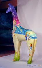 SOLD! 'Nextra-terrestrial' Giraffe Sculpture by Ingrid Sylvestre