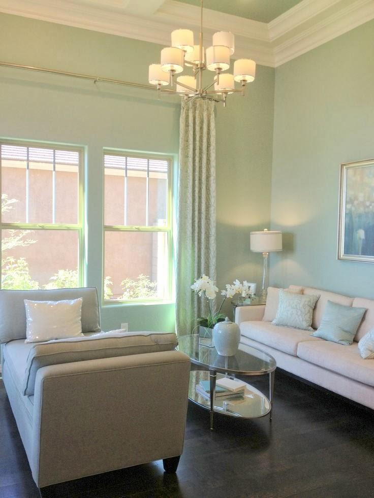 Qu os parece este color os atrev is con l for Mint green living room designs
