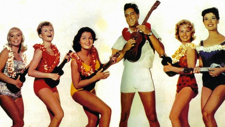 Elvis Presley und Freundinnen in BLAUES HAWAII (1961) Quelle: Paramount