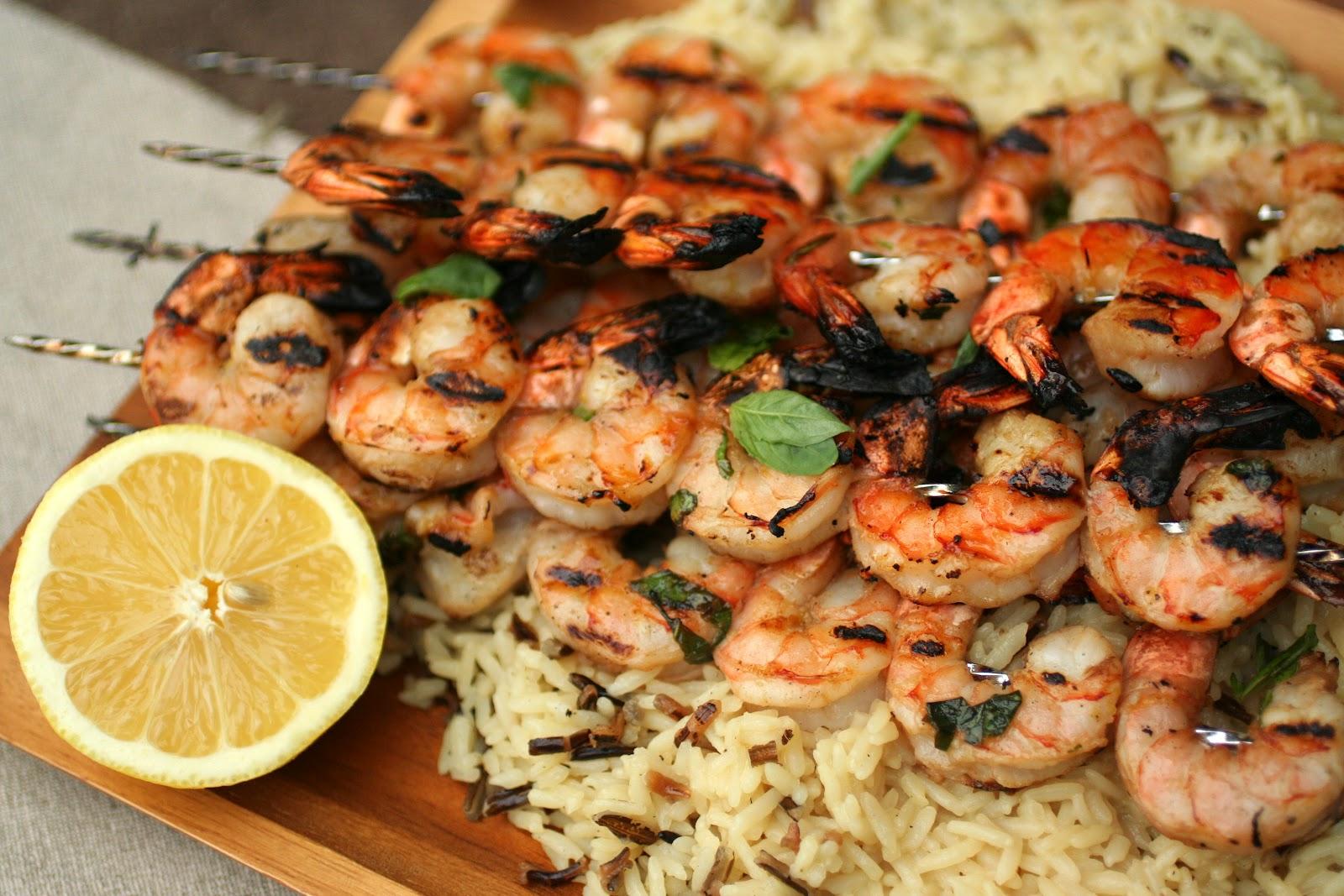 Meal Planning 101: Lemon Basil Grilled Shrimp