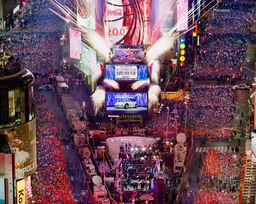 Happy New Year 2014 Countdown New York, USA.