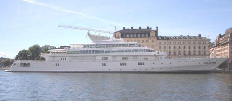 Larry Ellison's $200 million yacht Rising Sun