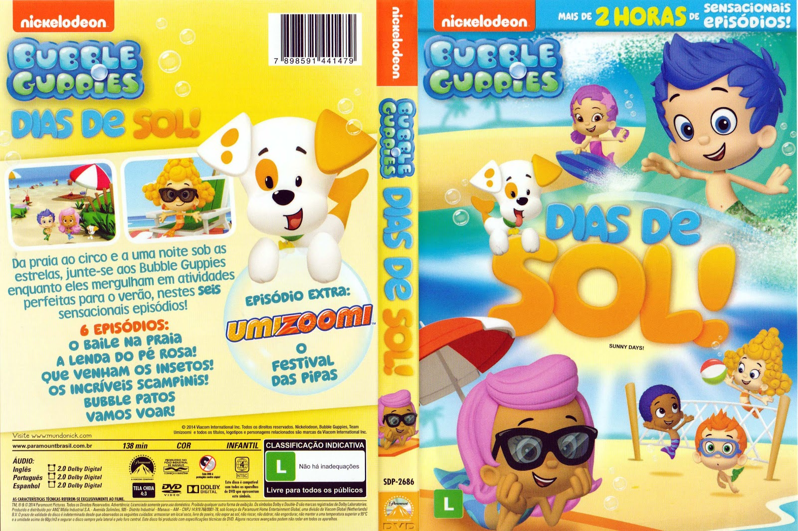 Capa DVD Bubble Guppies Dias De Sol