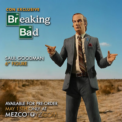 "San Diego Comic-Con 2015 Exclusive Breaking Bad Variant Saul Goodman 6"" Action Figure by Mezco Toyz"