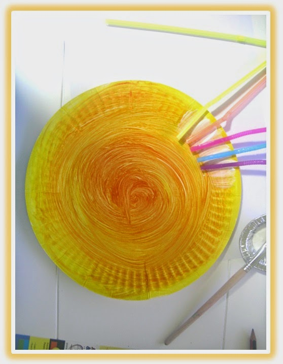 Paper Plate Sun Craft: Tuesday Art Linky