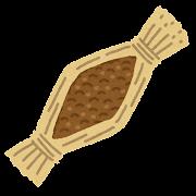 藁に入った納豆のイラスト
