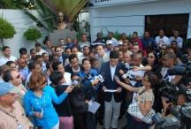 Parte de los jóvenes acusados de reunirse con Díaz Rúa antes de las elecciones ruegan no expulsar a Miguel Vargas del PRD