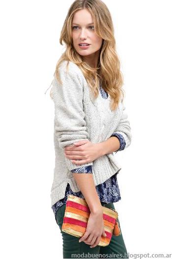 Sweaters tejidos invierno 2013