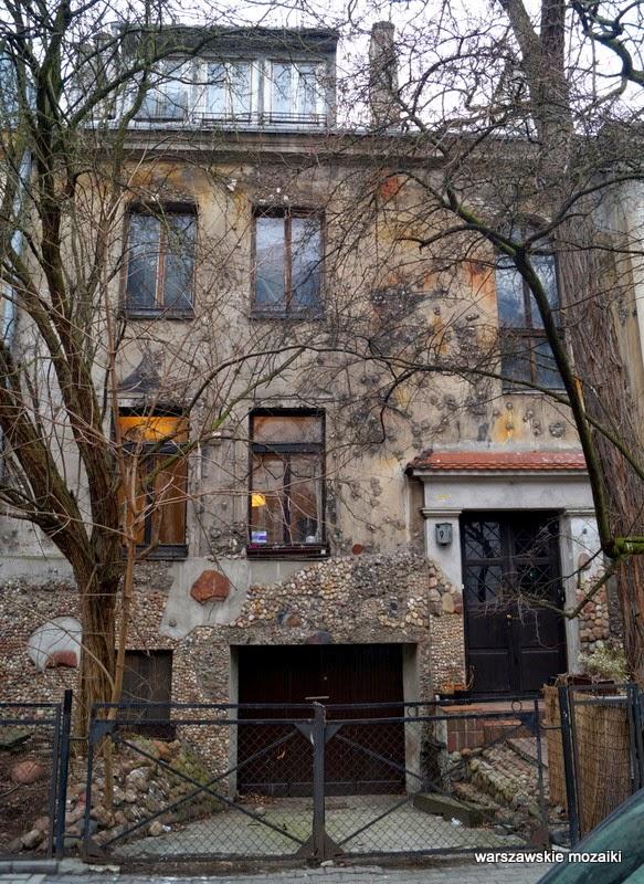 Warszawa dom Rechowiczów mozaika kamienie