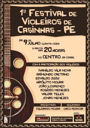 I Festival de Violeiros de Casinhas-PE
