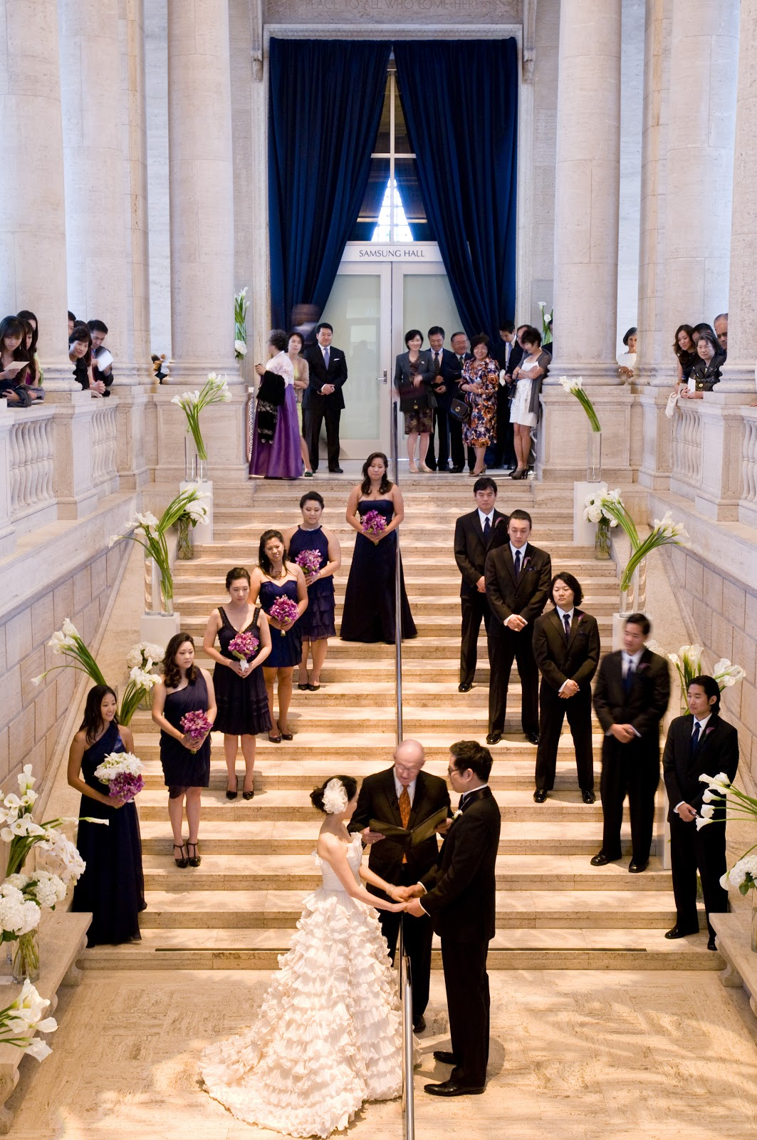 Wedding Ceremony On The Grand Staircase At Asian Art Museum