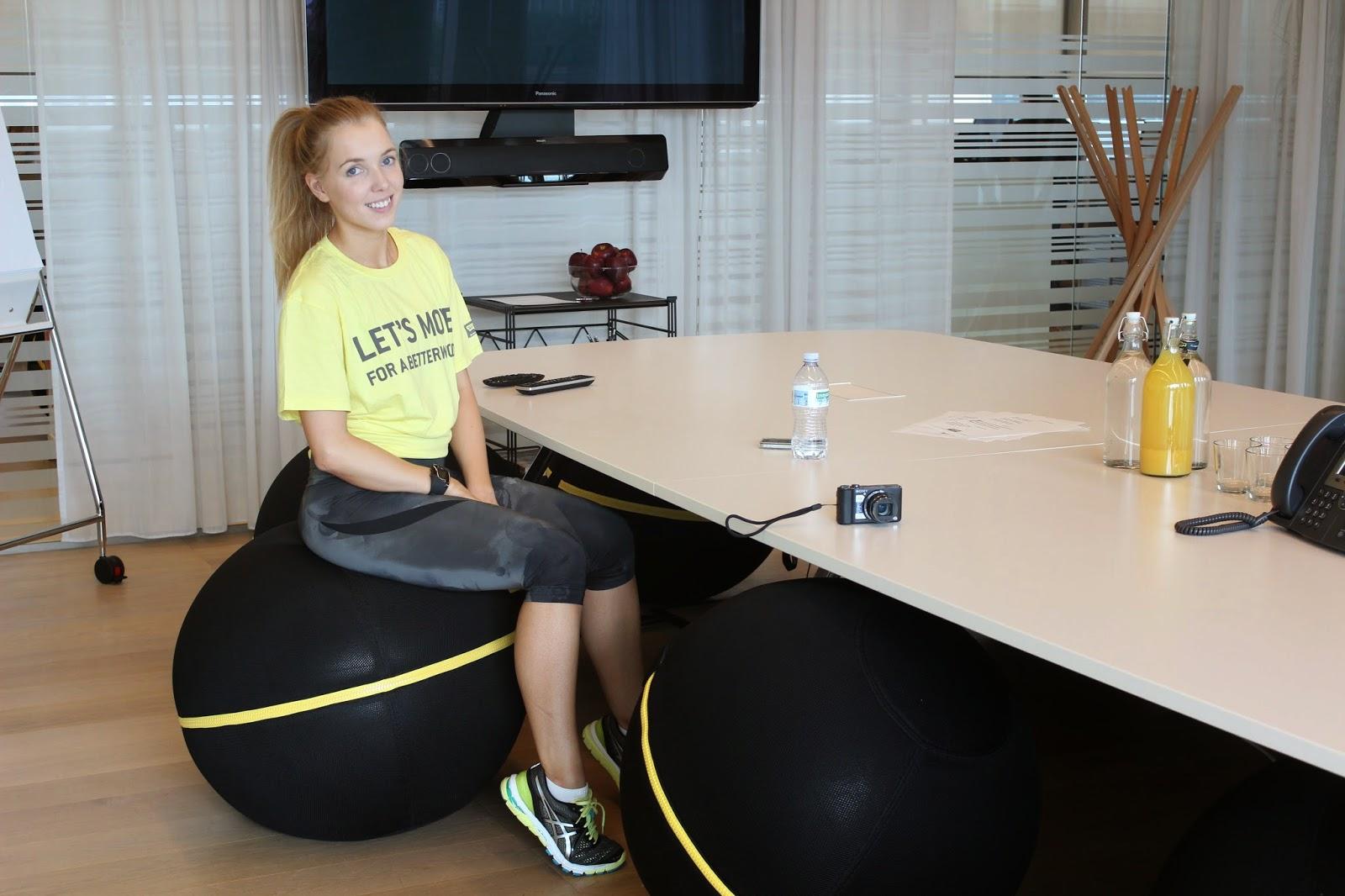Technogym HQ Cesena Office Wellness Ball Active Sitting