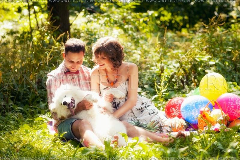 фотосессия в парке с собакой