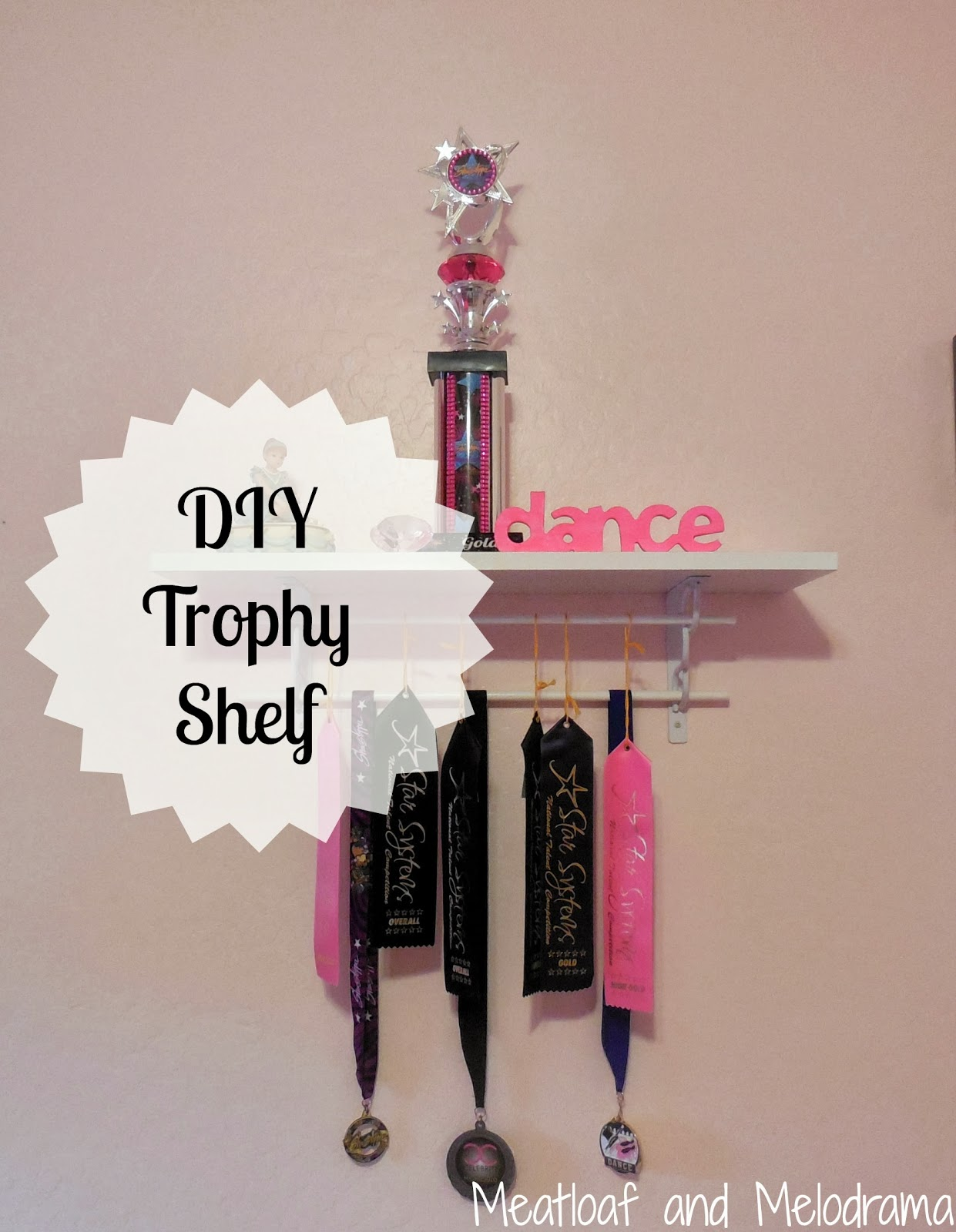 how to make a trophy shelf, dance