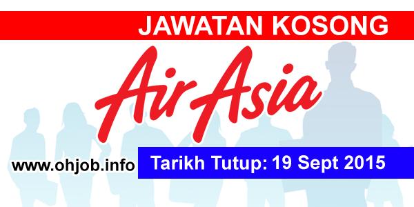 Jawatan Kerja Kosong AirAsia Berhad logo www.ohjob.info september 2015
