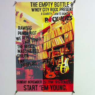 donated poster design and print for Windy City Rocks