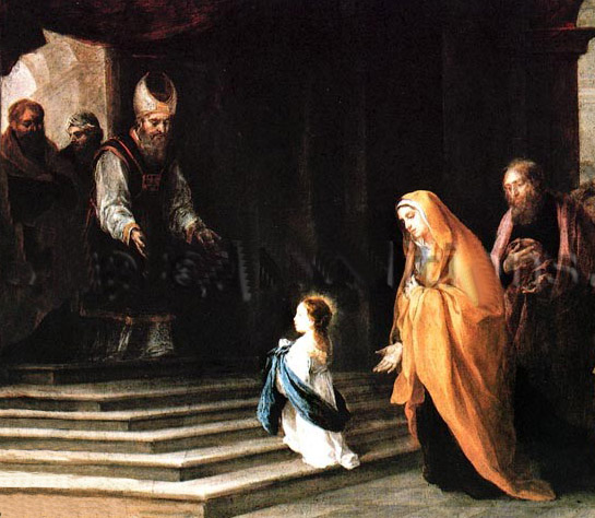 Pauca Verba The Earlier Mysteries Of The Blessed Virgin Mary Her Presentation In The Temple