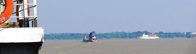 Irrawaddy River Cruises at Yangon Harbor