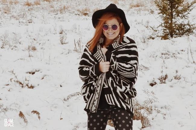 oversized patterned sweater - zara polkadot pants