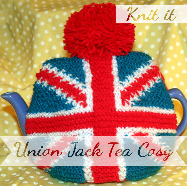 Knit yourself a union jack tea cosy