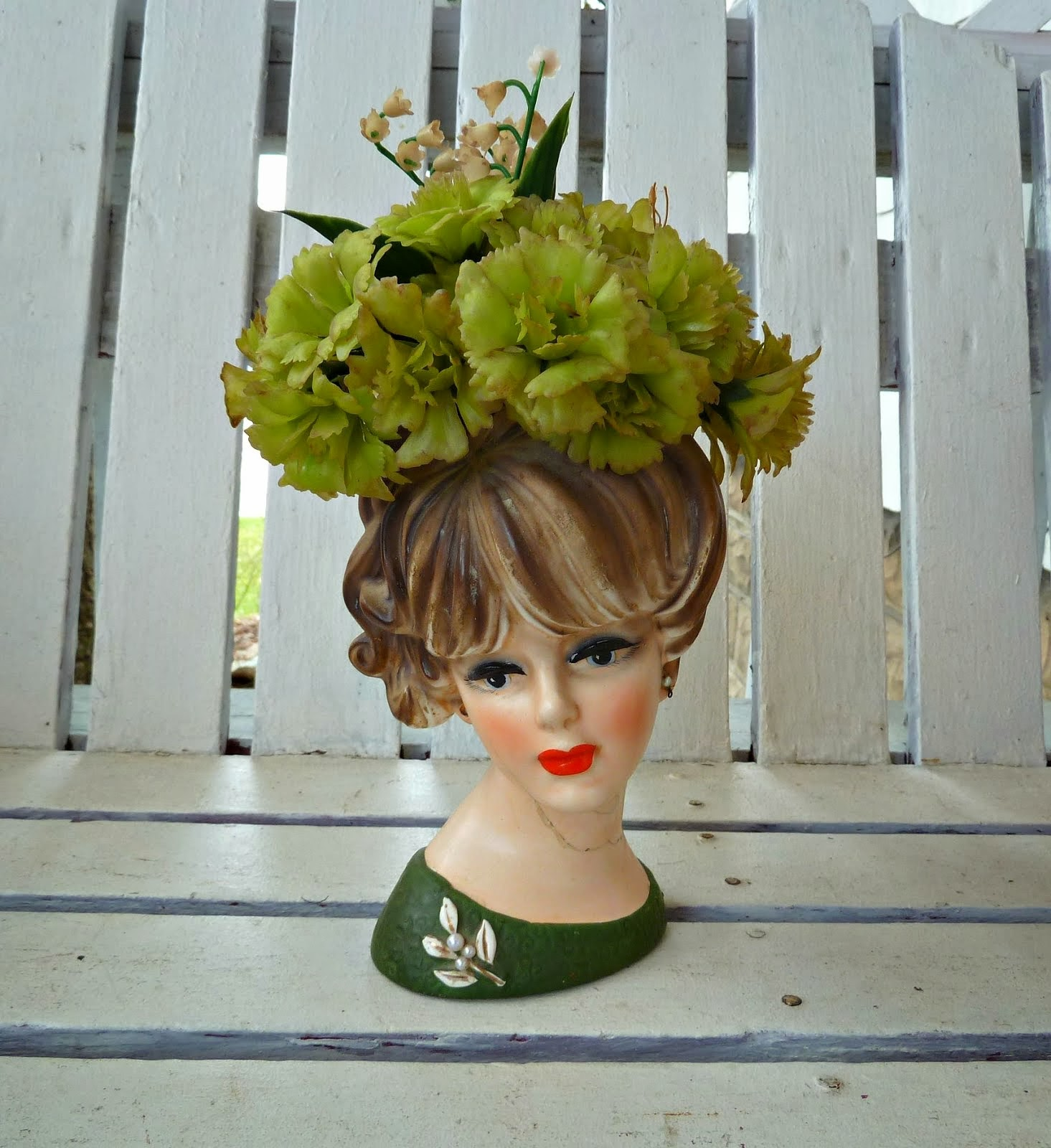 Old glory cottage my weekend finds lady head vases reviewsmspy