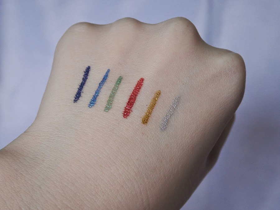 metallic eyeliner swatches