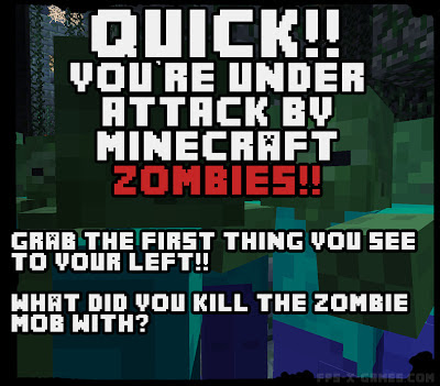 Minecraft zombie mob attack game