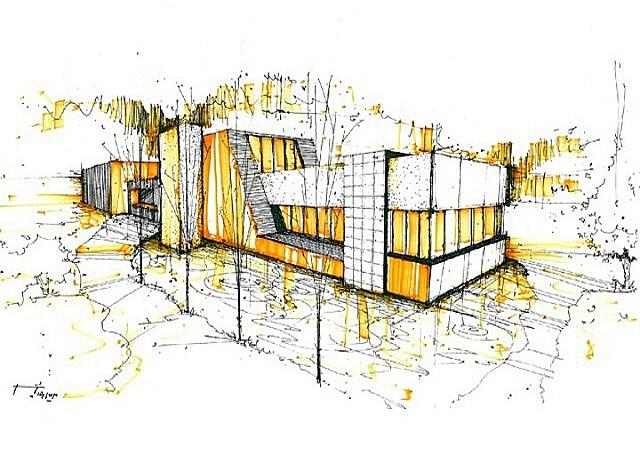 Dise o de interiores escuela de arte de motril bocetos for Diseno de interiores dibujos